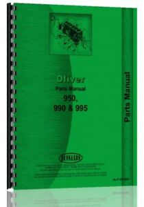 Parts Manual Oliver 950 990 995 Tractor