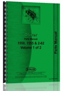 Parts Manual Oliver White 1550 1555 Moline G550 Tractor