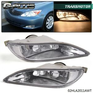 Bumper Fog Light Clear Len Front Lamps Set For Toyota Camry 02 04 Corolla 05 08