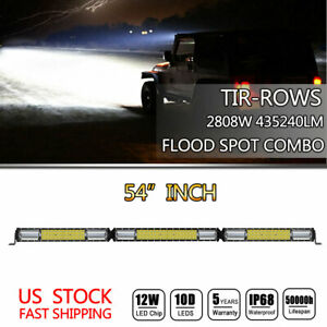 Quad Row 36 Inch 4992w Led Light Bar Combo Offroad 4wd Truck Atv Driving Lamp