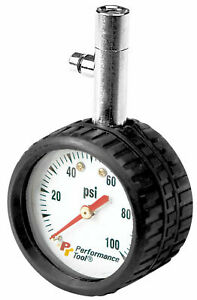 Performance Tool 2 In Round Dial Tire Pressure Gauge W9106