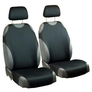 Car Seat Covers For Volkswagen Fox Front Seats Deep Black