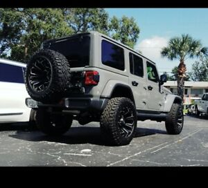 Jeep Wrangler Fuel Assault Offroad 20x10 Wheels And Goodyear Duratrack Tires 35s