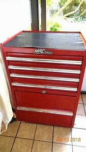 Mac Tools Vintage Hd Large Hang On Side Tool Box With 5 Drawers Red Mb5050 L2