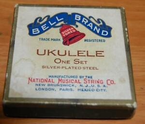 Vintage Bell Brand Ukulele Strings 1st 2nd 3rd Steel National Musical String Co
