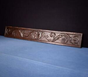 53 Antique French Carved Architectural Panel Solid Chestnut Wood Trim