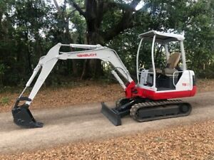 Takeuchi Tb125 Rubber Track Mini Excavator Ready To Work
