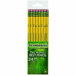 Sale Ticonderoga Wood cased 2 Hb Pencils Six 24 count Hang tab Boxes Total 144