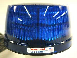 Whelen Strobe Light Blue Strobe L31 Super led Beacon 12v Dc Low Profile L32