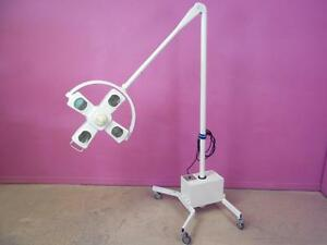 Angenieux Ax 4 Surgical Exam Light Head And Arm O r Procedure Floor Stand Lamp