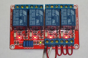 Usa 12 Vdc 10 Amp 4 channel High Low Level Input Relay Boards