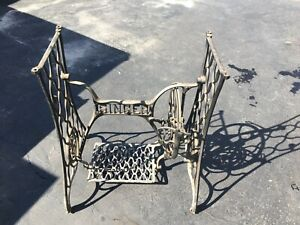 Singer Antique Cast Iron Treadle Sewing Machine Base