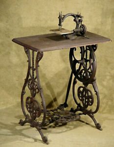 Antique Very Early 1863 Glass Tensioner Willcox Gibbs Treadle Sewing Machine