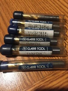 Garr Tool End Mill Bits Group Of 6