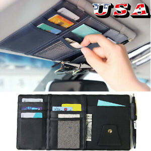 Hot Sale Car Sun Visor Organizer Card Change Storage 30x14cm Pen Holder Parking