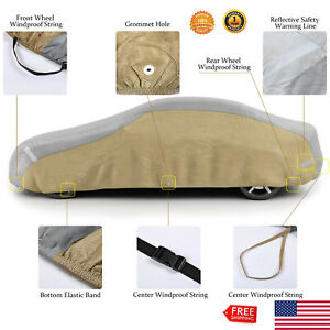 Vetomile Car Cover 5 Layer Good For Indoor Outdoor Use Waterproof Protection Us