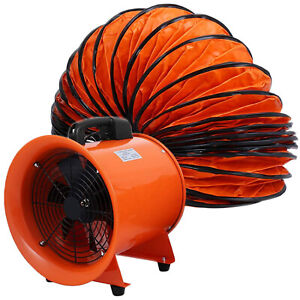 12 Extractor Fan Blower Ventilator 5m Duct Hose Pivoting Heavy Duty Air Mover