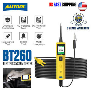 New Autool Bt260 Electrical System Led Diagnostic Tool Automotive Circuit Tester