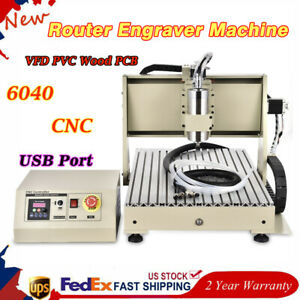 6040 Cnc Router Engraver Machine 3axis Metal Wood Drilling Milling Vfd Usb 1 5kw