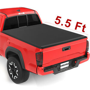 Oedro Soft Tri Fold Tonneau Cover Fit For 15 19 Ford F 150 Extra Short Bed 5 5
