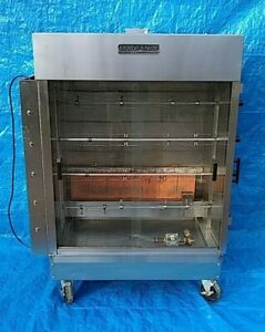 American Range Acb 4 Gas 4 spit Commercial Lp 20 Chicken Rotisserie Oven