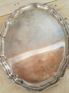 Wilkens S Hne German Sterling Silver 830 S Large Serving Tray Unique