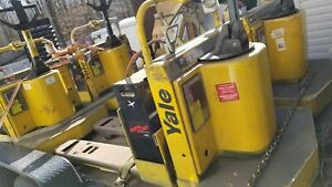 Yale Motorized Hand Truck Electric Pallet Jack 6000lb Core Will Separate 12v 220