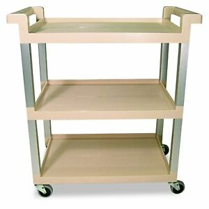 Two Rubbermaid Commercial 9t6571bg Three shelf Service Food Cart