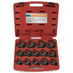 1 2 Drive Metric Crowfoot Wrench Pro Set 14 Pc Jumbo Cr Mo 1 1 16 2