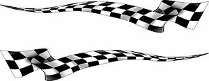 Boat Car Truck Trailer Motorcycle Graphics Decal Racing Flag Stickers Wrap 50
