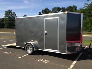 New 6x12 6 X 12 V nose Enclosed Cargo Trailer W ramp Other Sizes
