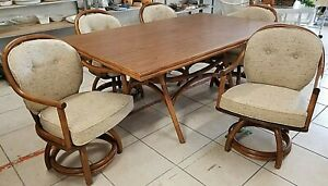 Vintage Classic Rattan Inc Of Ky Mid Century Modern Dining Set Table 5 Chairs