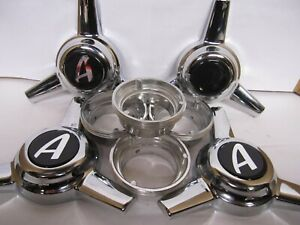 4 Spinners Center Caps For Appliance Wire Wheels 3 Bar Appliance Logo