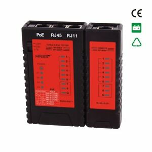 Nf 468pt Poe Tester Lan Network Cable Rj11 Rj45 Tester Can Test Grounding Cable