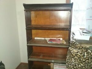 Matching Mahogany Set Of Barrister Lawyer S Bookcase Gunn Grand Rapids Mich