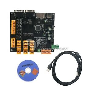 9axis Cnc Controller Kit 100khz Usb Stepper Motor Controller Breakout Board cd