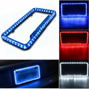 54led Car Front Rear Number License Plate Frame Cover Kit For Honda Civic 12v