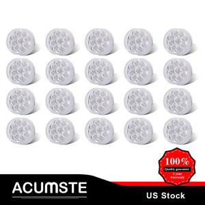20x Led Marker Light 2 Round Clear red 9 Led W Flower Petal Look Trailer Lights