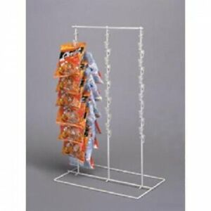 Triple Strip 39 Clips Chips Candy Snack Counter Display Rack Almond