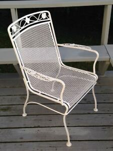 Vintage Mcm Woodard Meadowcraft Wrought Iron Patio Or Dining Chair