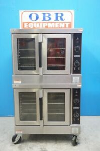 Hobart Double Deck Full Size Electric Convection Oven Model Hec5