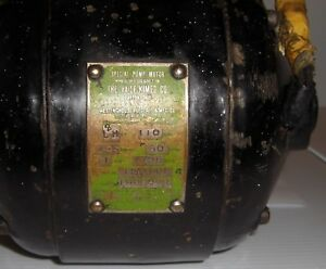 Antique Vaile kimes Westinghouse 2 Hp Electric Motor Dec 11 1916 working