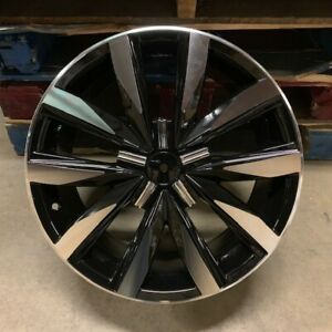 18 Gli Style Black Wheels Rims Fits Vw Volkswagen Gti Mk5 Mk6 Mk7 Black Machine