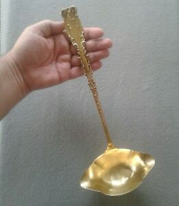 Fully Gilt Frank M Whiting C1890 Josephine Sterling Silver Vermeil Punch Ladle