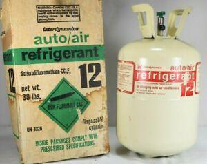 Interdynamics Auto air 30 Lb Container Partial 17 Lb R12 Refrigerant Rare