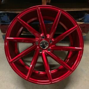 20 Red Swirl Style Staggered Wheels Fits G35 G35x G37x Q60 Q60s