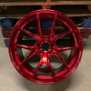 Brand New Set Of 4 Wheels 20 Vortex Style Red Fits Bmw 5x120 5x4 75