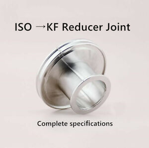 Iso To Kf Vacuum Reducer Straight Conical Adapters Stainless Steel Flange