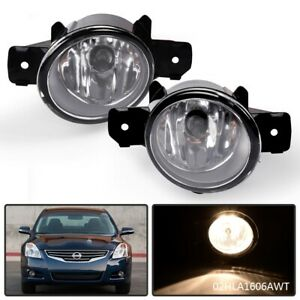 1 Pair Clear Fog Lights For Nissan Altima Sentra Maxima Rogue Infiniti M35 M45