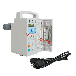 Human Infusion Pump Iv Fluid Equipment Lcd Monitor Kvo Purge Memory Patient Usa